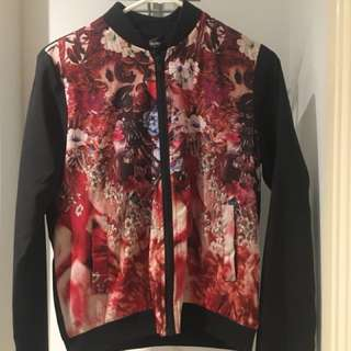 Mossimo size 8 floral jacket