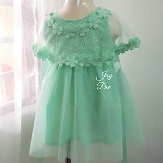❤️Baby Tutu Dress with Cape (Mint Green)❤️