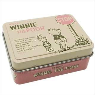 [面交 8 折] Disney 迪士尼 Pooh 維尼 文件小夾子連鐵盒