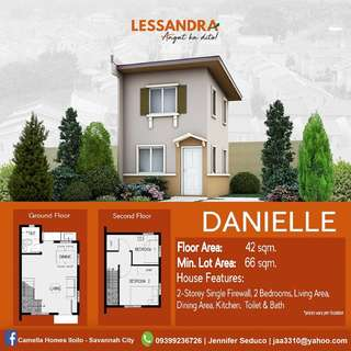 Affordable house and lot in Camella LESSANDRA Iloilo - DANIELLE