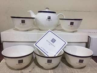 Gevinchy Paris tea set porcelaine