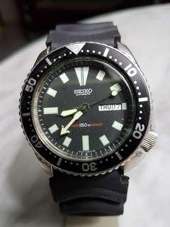 87 Seiko 6309-7290 Mens Auto Day/Date Diver.