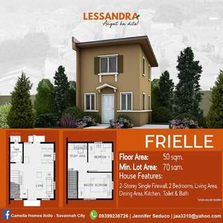 Affordable house and lot in Camella LESSANDRA Iloilo - FRIELLE