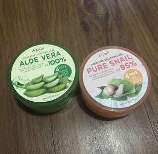 Aloe Vera Gel and Snail Gel