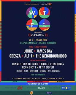 WTF We the fest GA 3 day pass