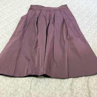 日本品牌Vis 雙面顏色即膝圓裙