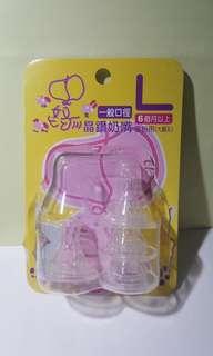 🚚 台灣嬌娃奶嘴 麥粉用 大圓孔 6個月以上