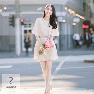 🚚 Korea 🇰🇷 披肩感附腰帶短洋裝👗