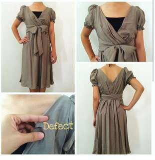 Baju pesta/ Grey Midi Dress