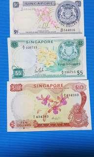 😍😍Singapore Orchid $1-$5-$10.HSS & 😍😍LKS.