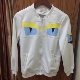 Fendi Monster Jacket Bomber White
