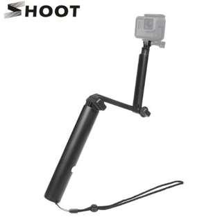 Shoot XTGP456 Waterproof 3 Way Grip Arm Tripod Monopod for GoPro and Action Camera