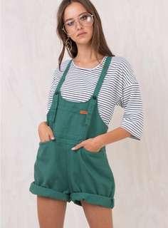 Green Sloan Demin Overalls