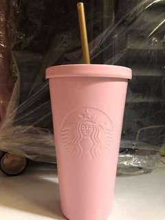 STARBUCKS tumbler cup BABY PINK 473ml
