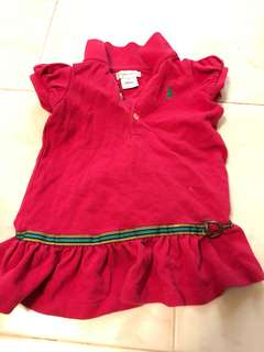 Polo Ralph Lauren Dress baby girls 9 months red