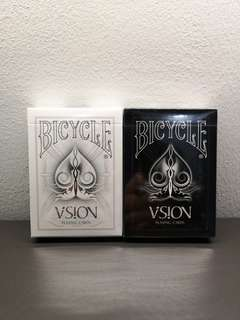 Bicycle White and Black Visions Deck