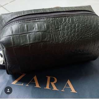 Zara Crocodile Green Clutch
