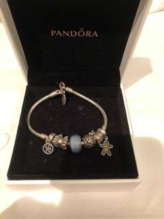 Authentic Pandora Bracelet, all Charms Included