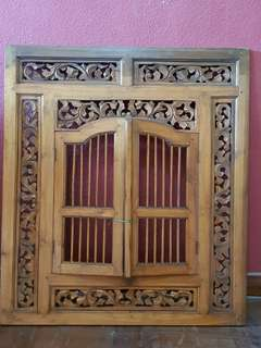 Teak wood carving (without mirror)
