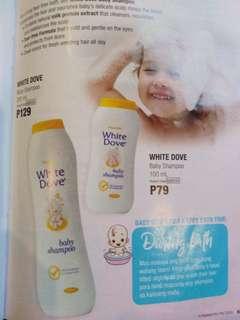 White dove baby shampoo