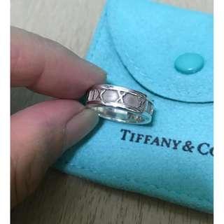 原價$1700 Tiffany Atlas Ring 純銀戒指