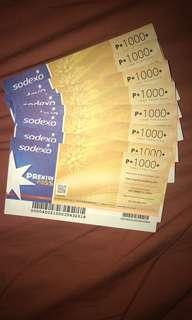 Sodexo Gift Certificates ONHAND