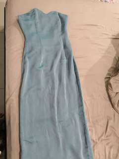 Custom made sky blue dress for traditional and evening wear fits size xs to s