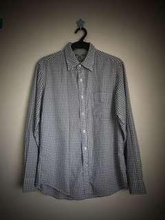Uniqlo checkered slim fit long sleeve medium size