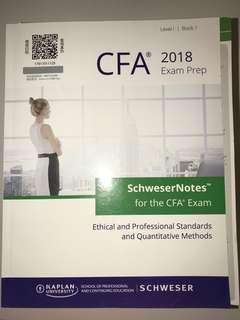 2018 Level 1 CFA Notes -  Kaplan Schweser