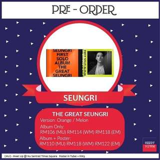 (PRE-ORDER) SEUNGRI - THE GREAT SEUNGRI
