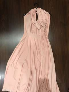 Baby Pink Mid-Length Infinity Dress