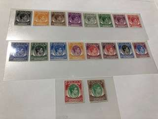 Singapore 1949 King George VI perf 18 MH