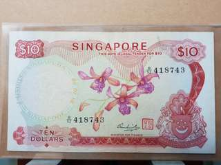 Singapore Orchid Series 10 Dollars