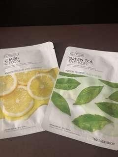 RUSH SELLING!!! The Face Shop Real Nature Green Tea,Lemon,Lotus and Honey