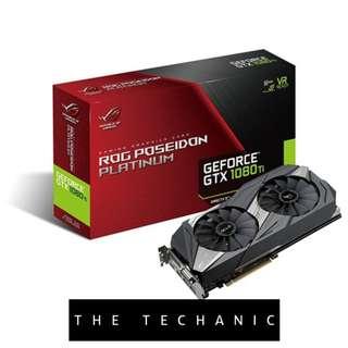 ASUS ROG POSEIDON GEFORCE GTX 1080 TI PLATINUM EDITION 11GB GDDR5X GRAPHICS CARD