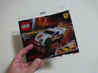 LEGO SHELL Racing Car (white)