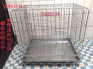 🚚 白鐵寵物籠