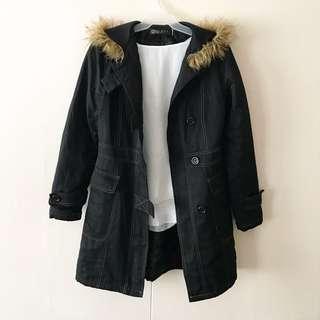 Black Fur Hooded Coat #winllaollao!
