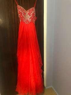 Sherri Hill sweetheart maxi dress