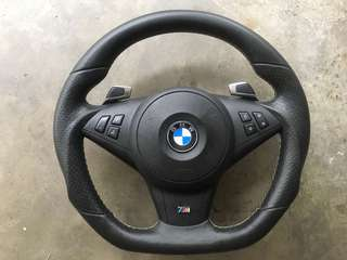 BMW E60 & E63 M-sport paddle shift steering complete