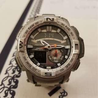 CASIO PRO TREK -280D 呔金屬200米防水錶