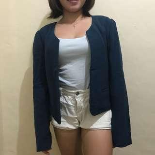 Office blazer in deep blue