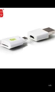 Otg micro usb sd card reader