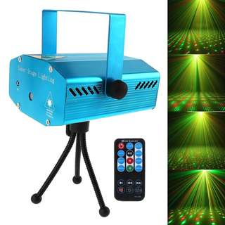 Mini Stage Light LED Laser Projector Red Green Star Voice-activated/Auto/Flash FDA Certificated for Club Disco Bar DJ Party