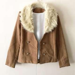 Brown Fur Blazer