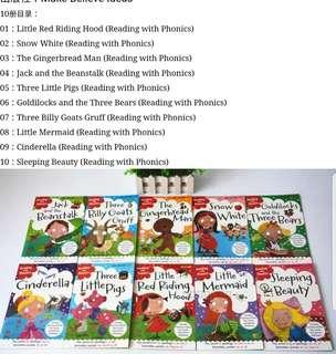 10 phonics fairy tales new books. Pre order till 21st July