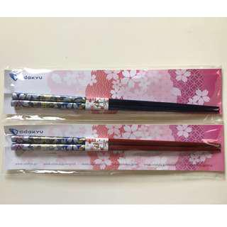 Two Pair of chopsticks, Made in Japan