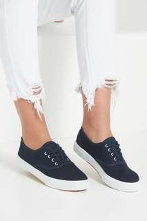 Rubi Shoes Navy Blue Ellis Plimsole