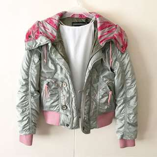 Gray x Pink Quilt Jacket