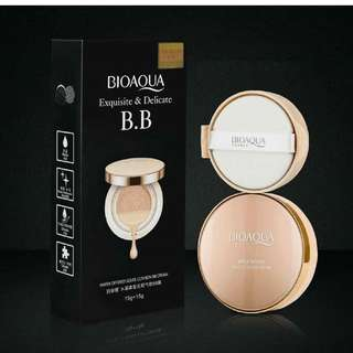 BIOAQUA BB GOLD LIQUID CUSHION EXQUISITE & DELICATED + REFILL